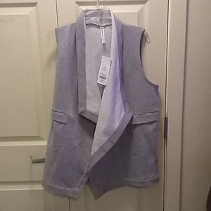 Fabletics Sweatvest, Sz Large, New w/ tahs